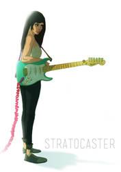 guitar and girl by valderrama