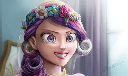 Chrysalis Cadance with Rapunzel style by dawkinsia