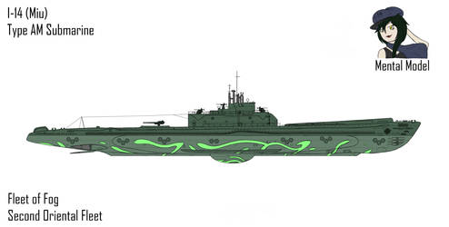 Fog Submarine I-14 (Miu) by Zyfle