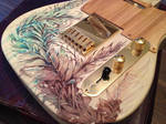 Floral design on Telecaster Guitar by Carnegriff