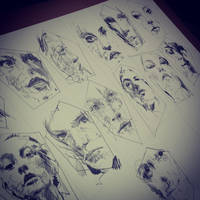 Portrait Sketches - Graphite on Bockingford Paper by Carnegriff