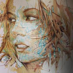 Kate Beckinsale Portrait by Carnegriff