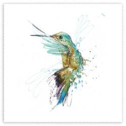 Vodka Bird 1 - Hummingbird by Carnegriff
