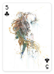 5 of Clubs by Carnegriff