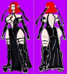 BloodRayne -black dress 1 by xlob2
