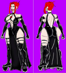 BloodRayne -black dress 2 by xlob2