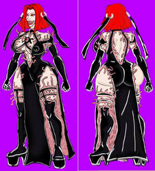 BloodRayne -black dress-BIOSUIT by xlob2