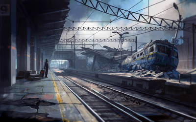 Late for the train by alexiuss