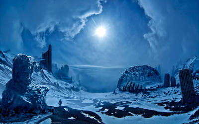 Storm in the glaciers by alexiuss