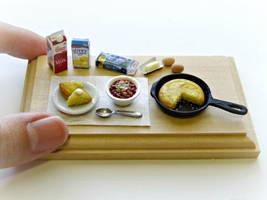 Cornbread and Chili by minivenger