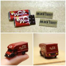 Wonka Bar and Truck by minivenger