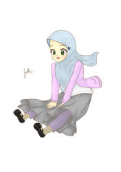 Fly over the Sky! - Muslim Girl by FathinaFN