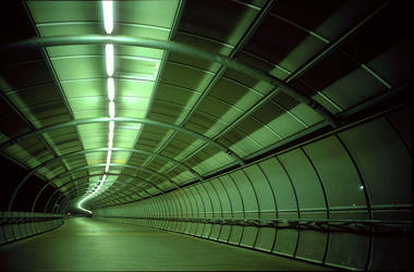 Empty Green Tunnel by grae-hall