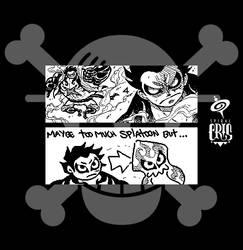One Piece Miiverse Art by SPIRALCRIS