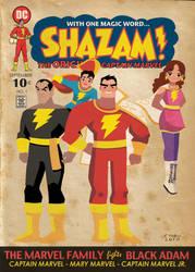 Captain Marvel Family by fabioyabu