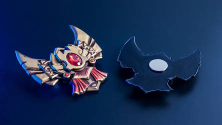 League of Legends Gold Badge Magnet by blackmaskedfox
