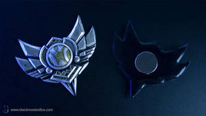League of Legends Silver Badge Magnet by blackmaskedfox