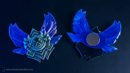 League of Legends small Diamond Badge - hand made by blackmaskedfox