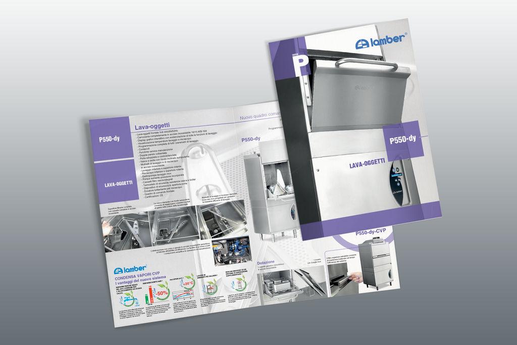 Depliant per azienda di lavastoviglie by GrazioliDesign