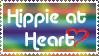 Hippie at heart stamp by deviantStamps