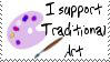 Support traditional art stamp by deviantStamps