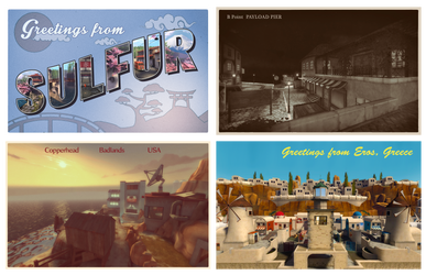 TF2 Community Map Postcards by Ixy42