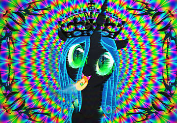 Queen Chrysalis LSD by HunterGiantesses