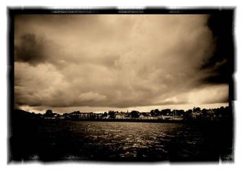 Storm Gathers Over Ballycastle by geotigger