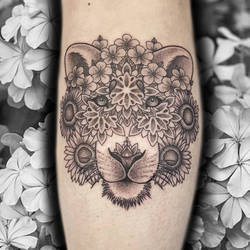 Lioness by kaleidoscope-tattoos