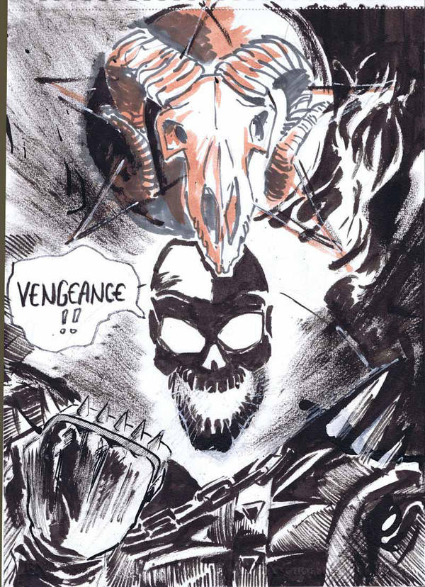 Ghost Rider sketch by hakantacal