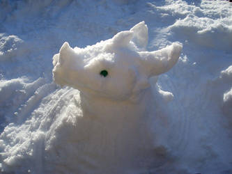 Dragon Snowman by TheDragonofDoom