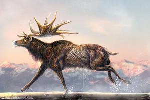 Megaloceros Giganteus Restored by TheDragonofDoom