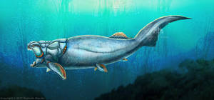 Dunkleosteus Terrelli Restored by TheDragonofDoom