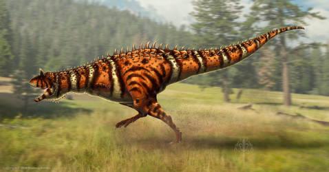 Carnotaurus sastrei Restored by TheDragonofDoom