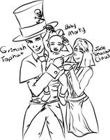 Baby Mortimer and his mother and father by MortimerAglet