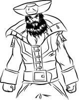 Mortimer's grandfather Blackbeard the Pirate by MortimerAglet