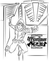 Mortimer Pulls a Spiderman by MortimerAglet