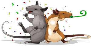 Celebrate with Pouched Rats by MinionofSloth