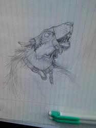 Rat ogre doodle by MinionofSloth