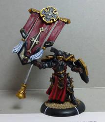 Menoth Knights Exemplar Standard by Jeffburjr