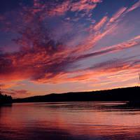Lake Ouachita Sun by Alyphoto