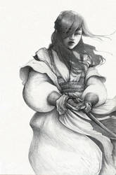 Young Samourai by orianedirler