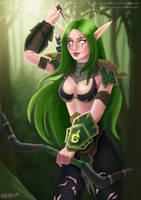 Night Elf Hunter by marina-umi