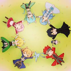 Sword Art Online Chibis~! by Keikochan029