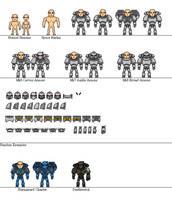 Space Marine Miniheroes by Sleeping-Demons