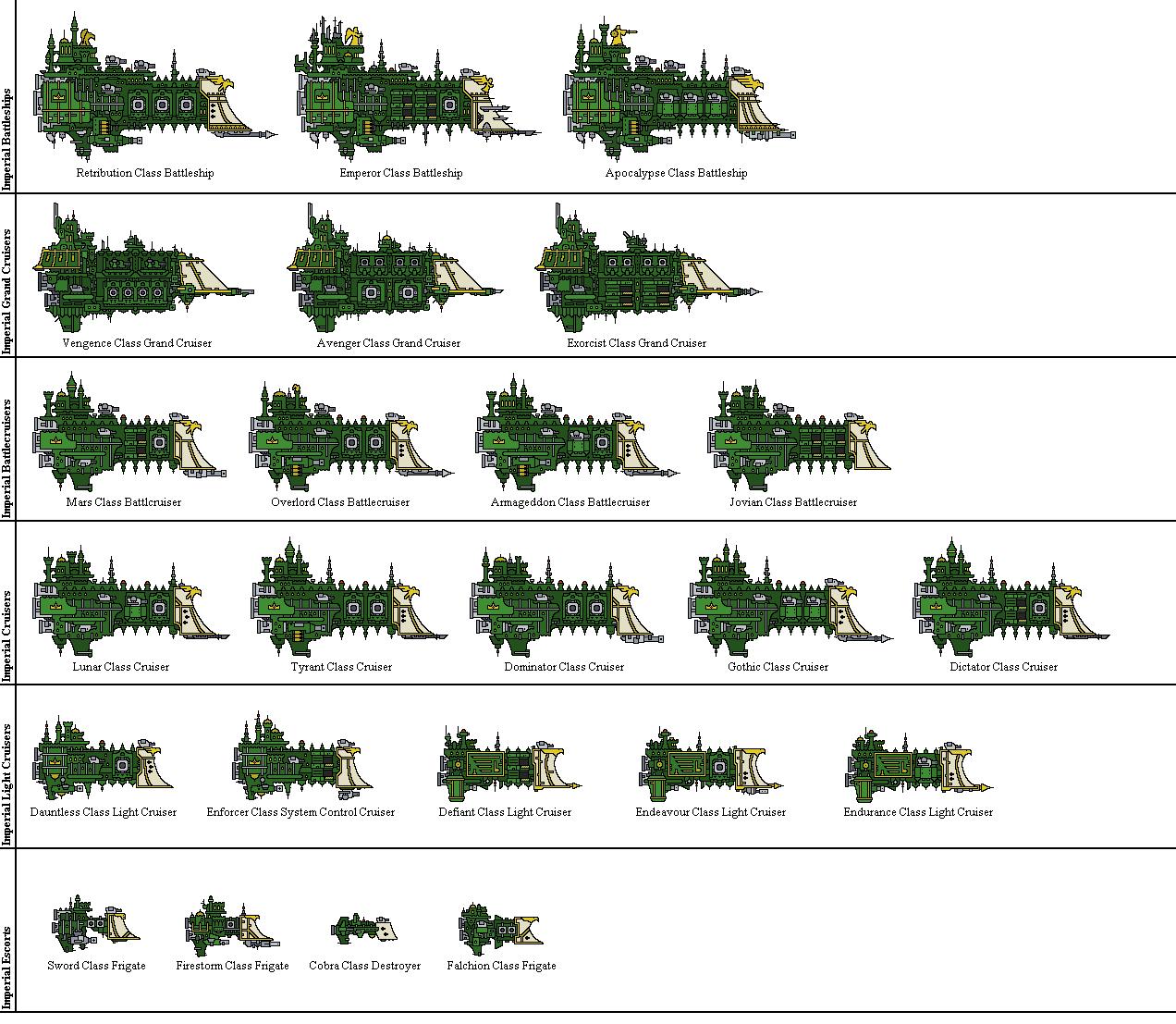 Battlefleet Gothic Pixel - Imperial by Sleeping-Demons