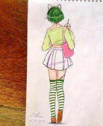 Cute anime girl by ragamustar