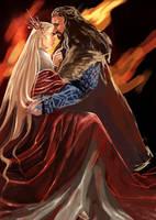 Thorin Oakenshield x Thranduil_I see Fire by Rosalind-WT