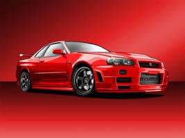 Nissan Skyline GT-R Vector by hoshiboshi