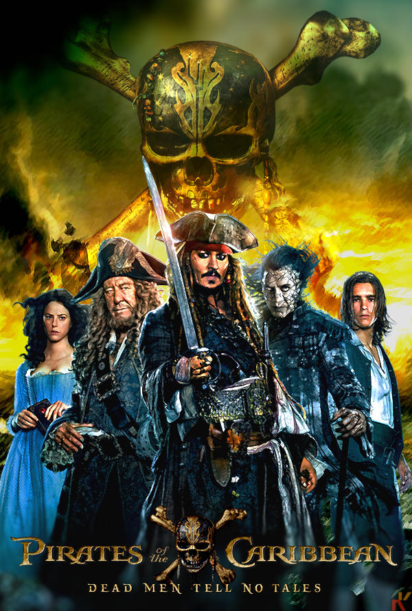 poster pirates 5 dead men tell no tales by keenbeetalart on